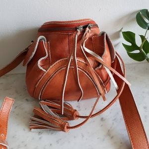 Orange Latico tassel bag